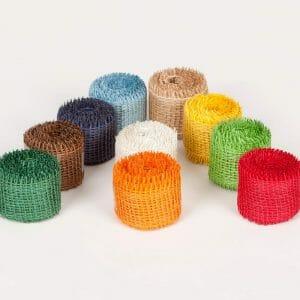 Jutové pásky, různé barvy 4 x 300 cm